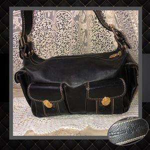 Marino Orlandi Black Leather Shoulder Bag LIKE NEW